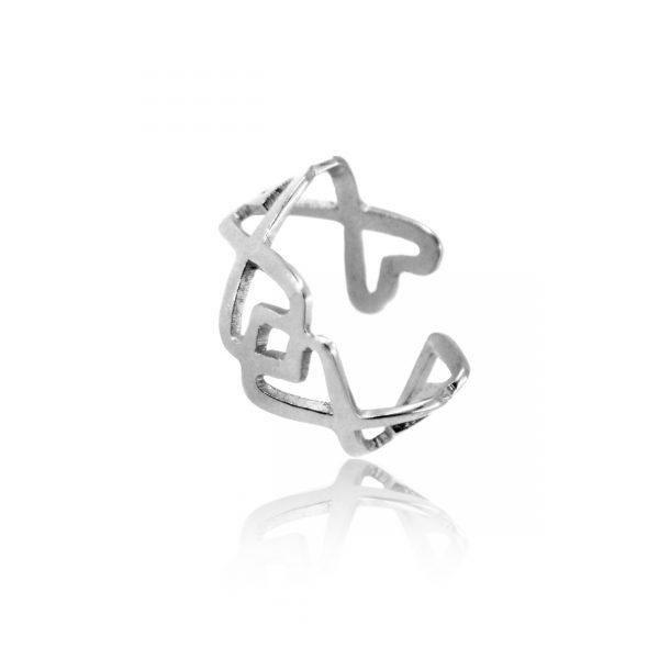 anillo ajustable plata