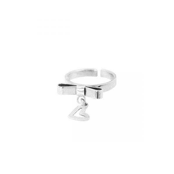 anillo plata ajustable