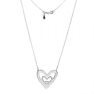 collar corazon triple plata